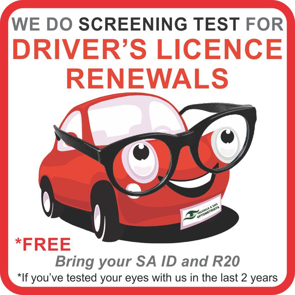 Specialised Services - Drivers Licence Screening - Valhalla & SAFI Optometrists