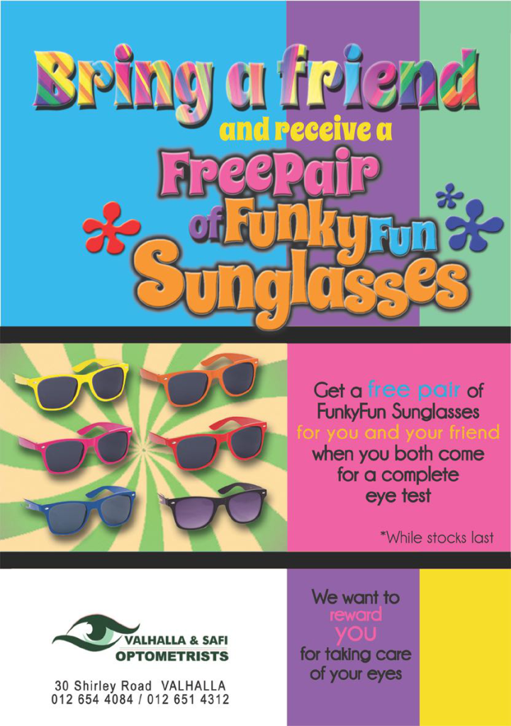 Special - Bring a Friend Funky Sunglasses - Valhalla & SAFI Optometrists