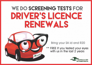 Special - Drivers Licence Screening - Valhalla & SAFI Optometrists